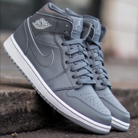 Nike Shoes | Air Jordan Mid Triple Grey